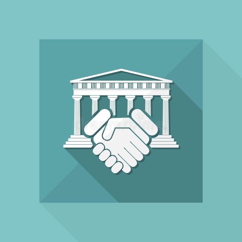 Acuerdo del tribunal stock de ilustración