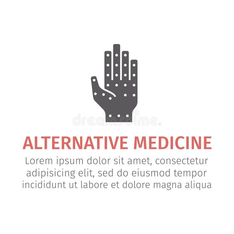 Acupressure icon. Vector illustration. vector illustration