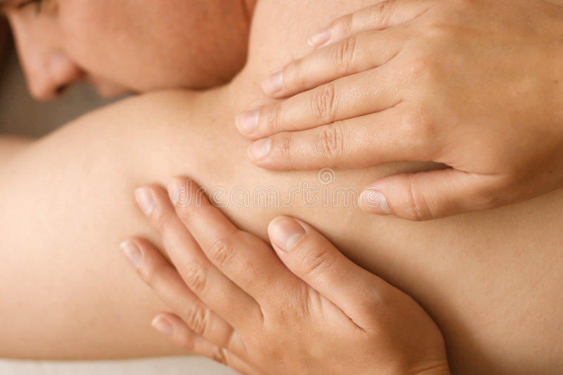 Acupressure Massage stock images