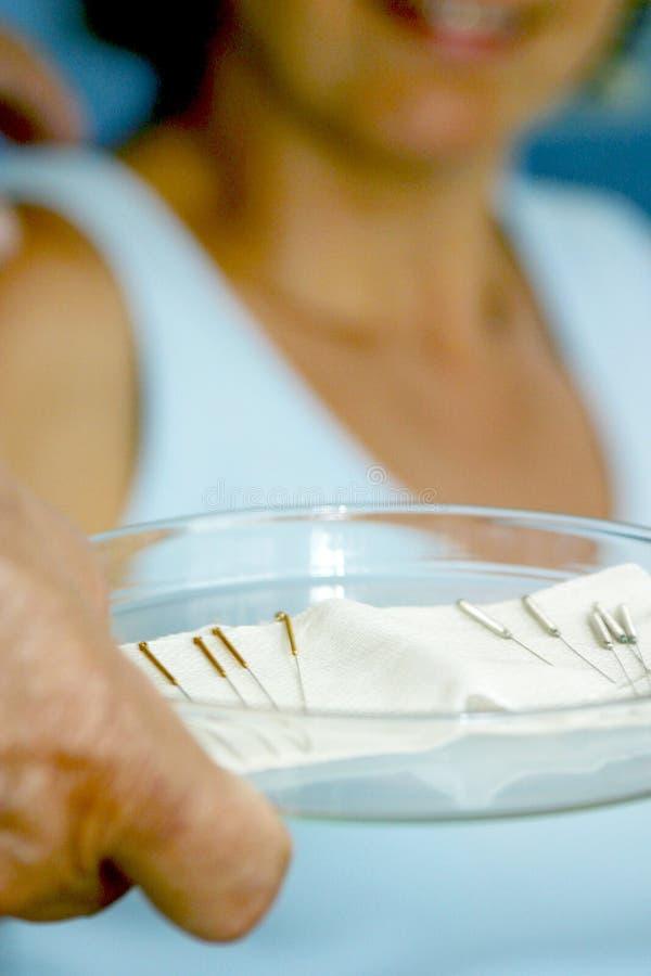 Acupunctura. imagens de stock