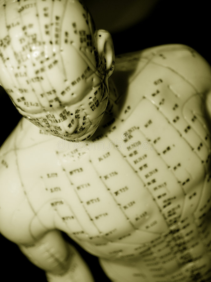 Acupuncture Concept stock photo