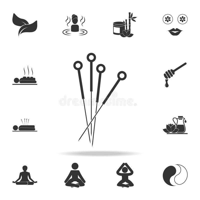 Acupuncture icon. Detailed set of SPA icons. Premium quality graphic design. One of the collection icons for websites, web design, vector illustration