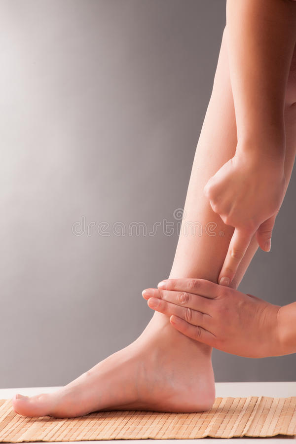Acupuncture SANYINJIAO SP-6 royalty free stock image