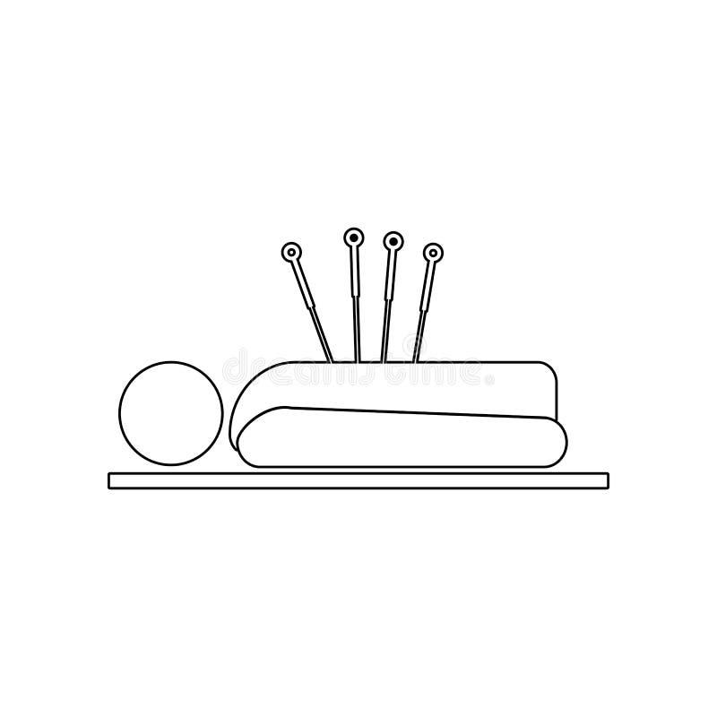 Acupuntura humana con el icono de las agujas Elemento del BALNEARIO para el concepto y el icono m?viles de los apps de la web Esq libre illustration
