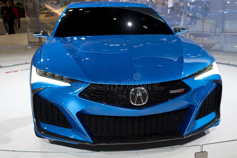 Acura all-wheel Type S concept coupe at the annual International Auto-show royalty free stock image