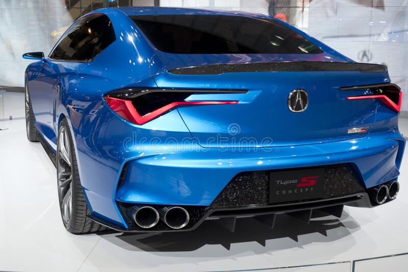 Acura all-wheel Type S concept coupe at the annual International Auto-show royalty free stock photo