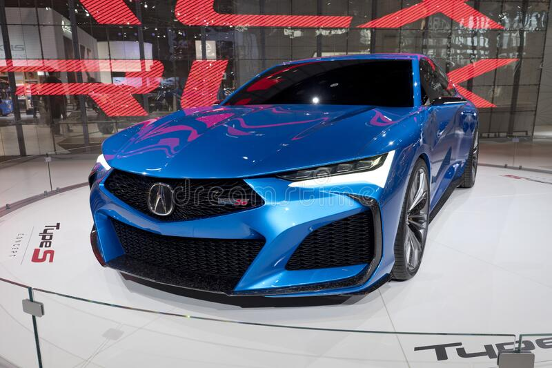 Acura all-wheel Type S concept coupe at the annual International Auto-show royalty free stock photography