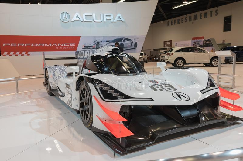 Acura ARX-05 DPI Race Car on display stock images