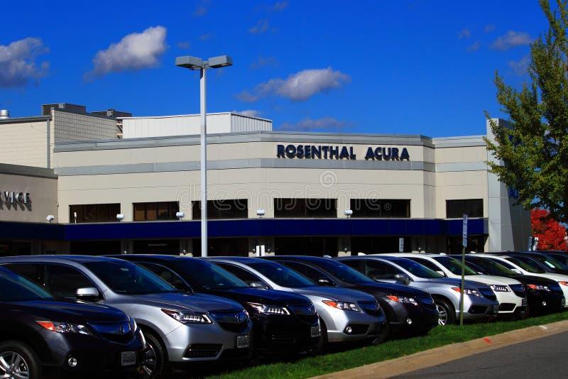 Acura-Auto-Vertragshändler lizenzfreie stockfotografie