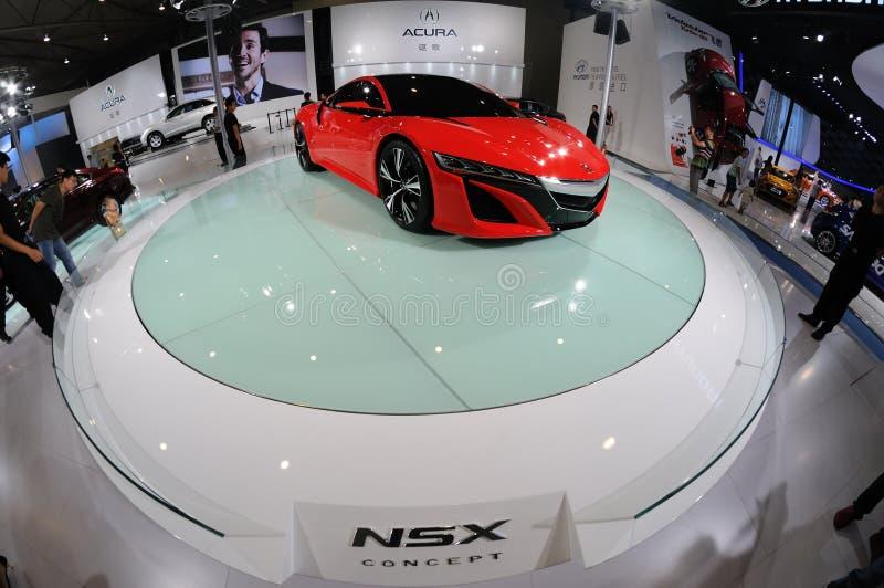 Acura czerwony Pojęcie NSX fotografia stock