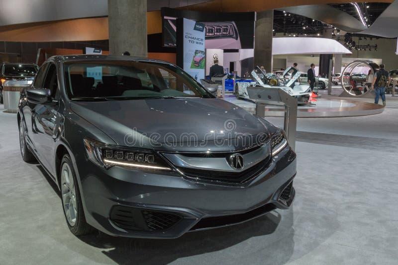 Acura ILX sur l'affichage pendant le salon de l'Auto de LA image stock