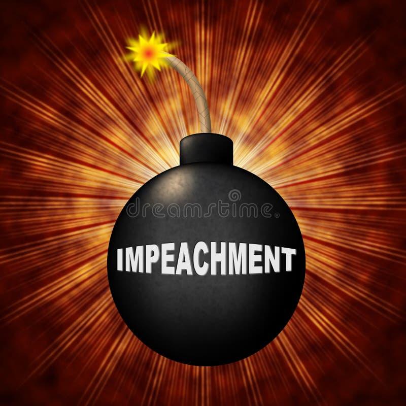 Acuse la bomba de la crisis para quitar a presidente corrupto Or Politician ilustración del vector