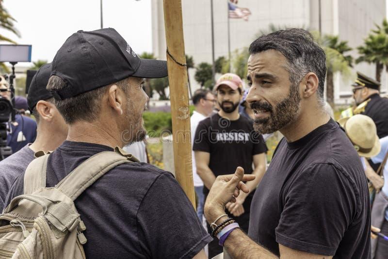 Acuse la protesta Los Angeles del oeste del triunfo foto de archivo