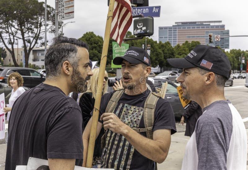 Acuse la protesta Los Angeles del oeste del triunfo fotografía de archivo libre de regalías