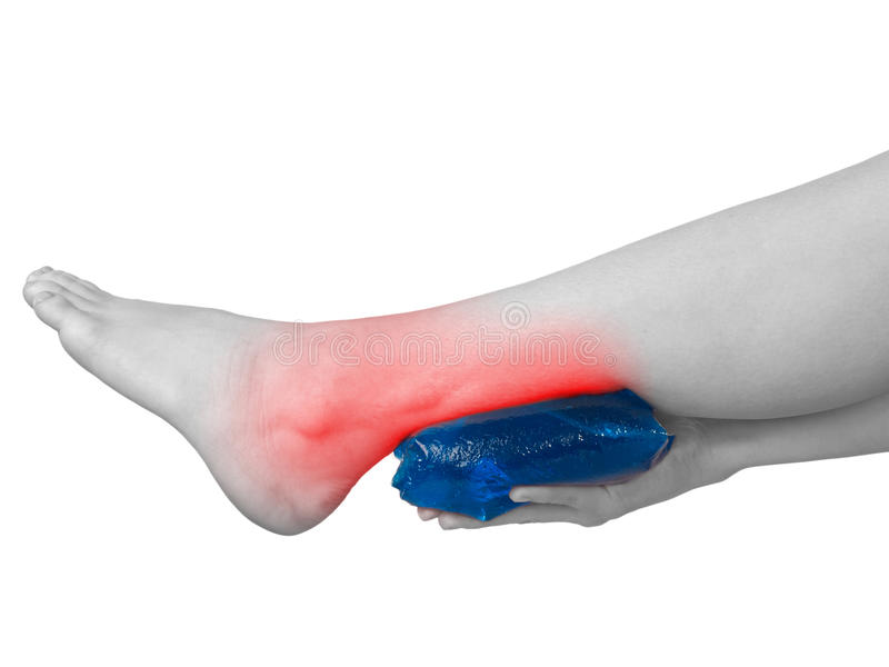Acute pain in ankle. royalty free stock photos