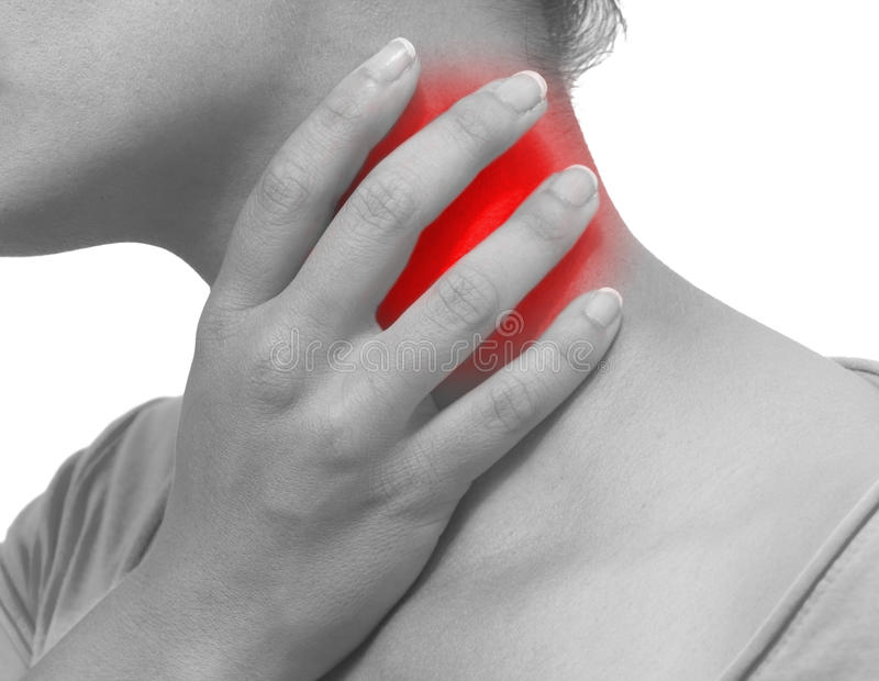 Download Acute pain in a woman neck stock photo. Image of human - 30708006