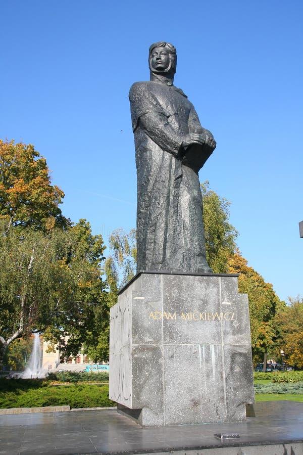 Adán Mickiewicz en Poznán fotografía de archivo