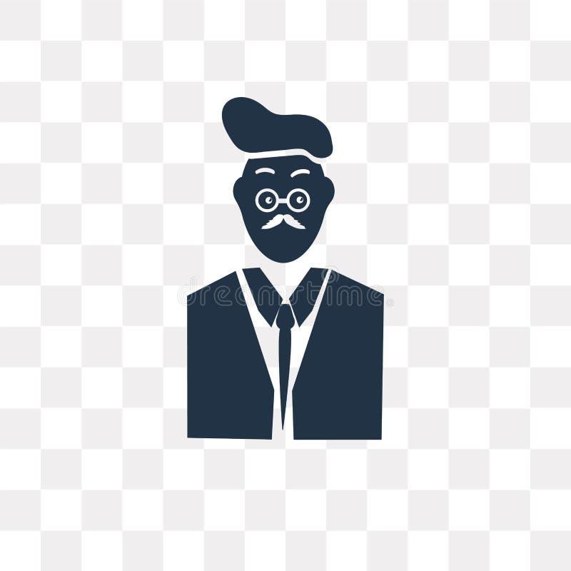 Adáptese y ate al icono del vector aislado en el fondo transparente, Sui stock de ilustración