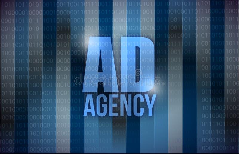 Ad agency binary background design royalty free illustration