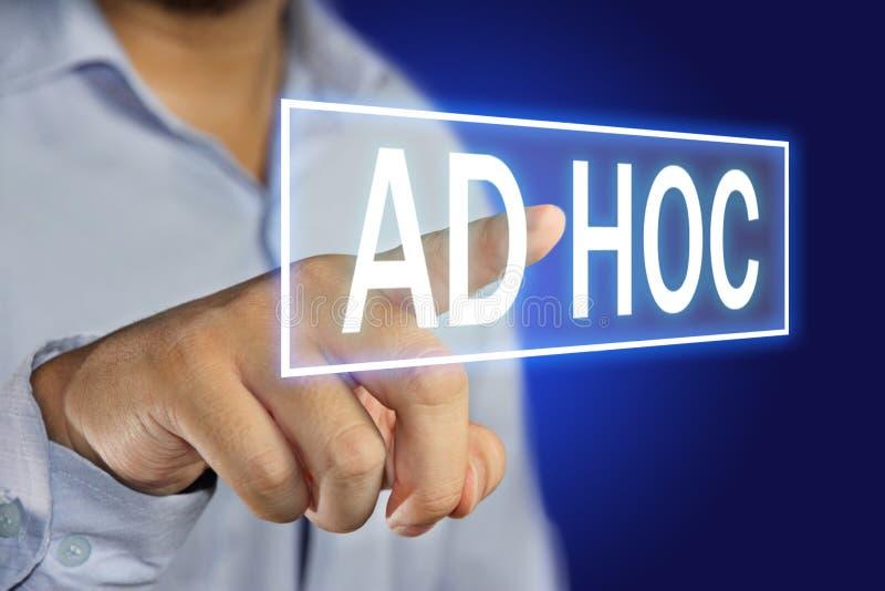 Ad hoc Konzept stockbilder