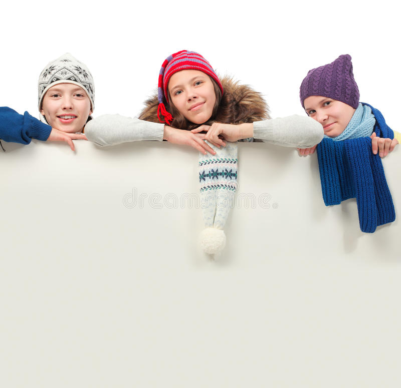 Ad teens royalty free stock photography