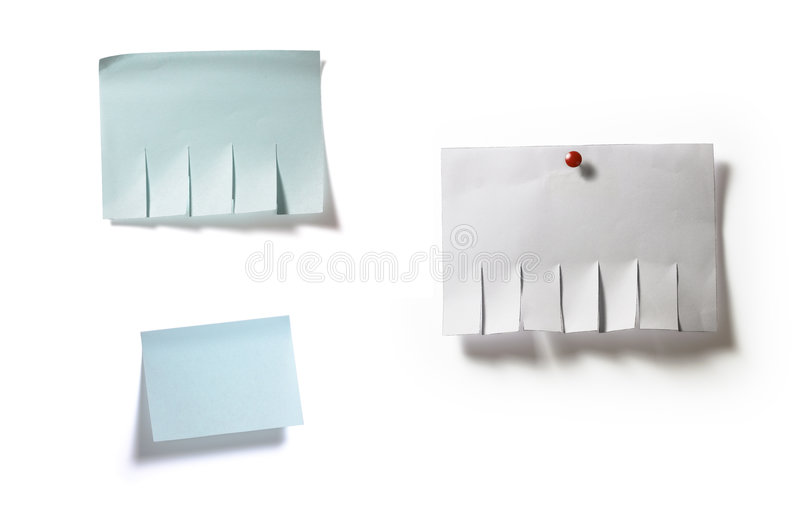 Ad templates. Full-size composite image of ad templates isolated on white background with light shadow stock photo