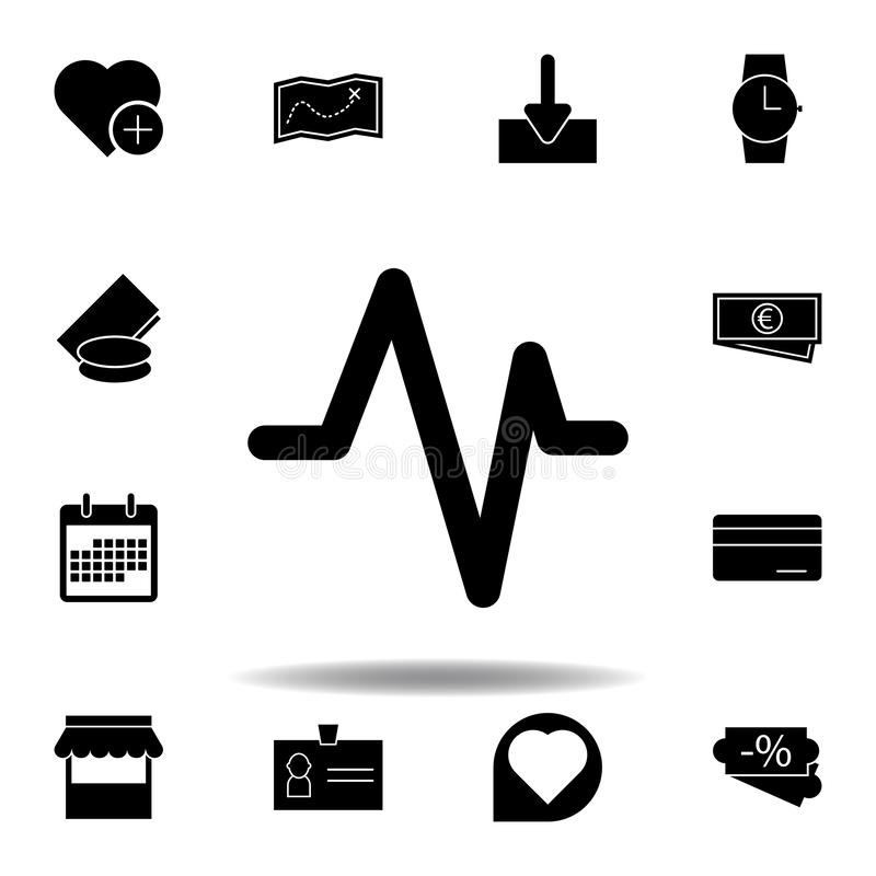 A?ada el icono preferido del coraz?n Las muestras y los s?mbolos se pueden utilizar para la web, logotipo, app m?vil, UI, UX stock de ilustración