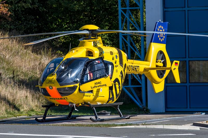 ADAC air rescue helicopter Christoph 20 Bayreuth royalty free stock images