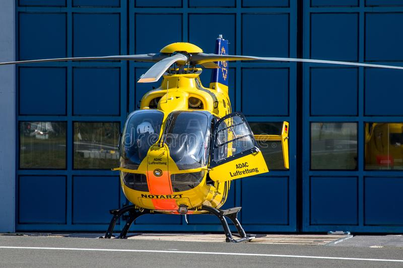 ADAC air rescue helicopter Christoph 20 Bayreuth royalty free stock photo