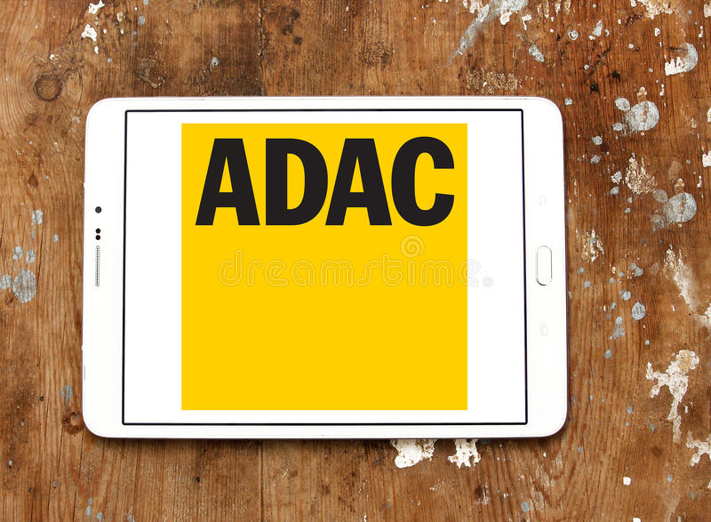 ADAC, logo allemand général de club d'automobile images libres de droits