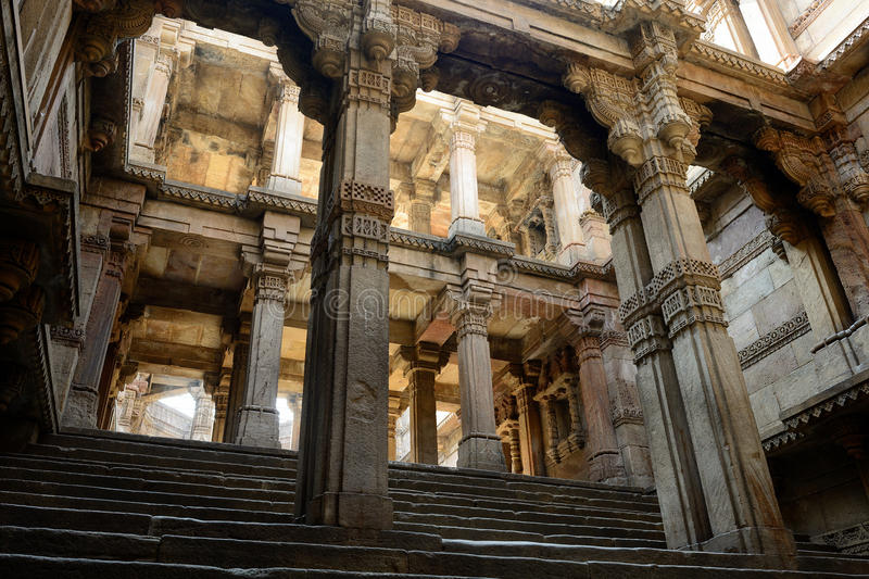 Adalaj step well in Ahmadabad, India stock image