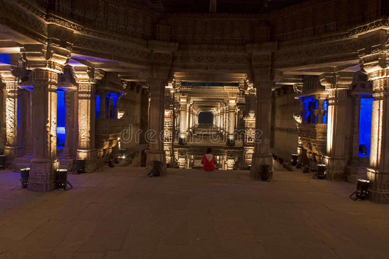 Adalaj step well . Ahmedabad, Gujarat stock image