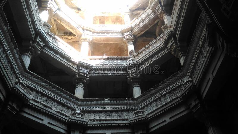 Adalaj Stepwell royalty free stock photo
