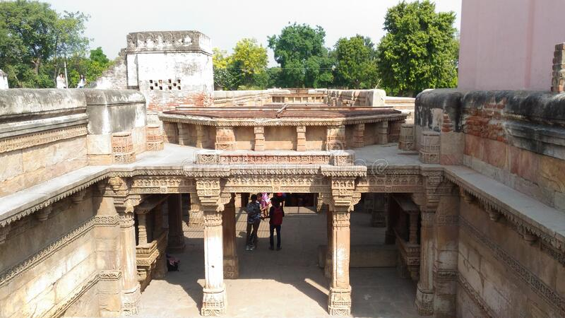 Adalaj Stepwell royalty free stock images
