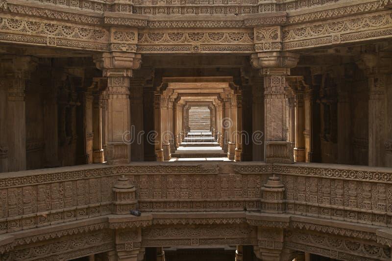 Adalaj Stepwell, Ahmadabad, Gujarat, la India fotografía de archivo