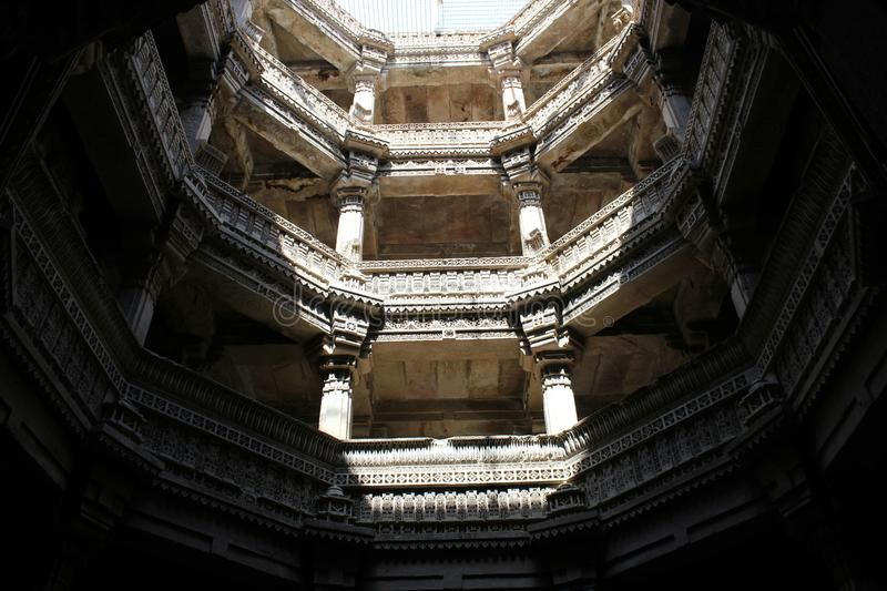 Adalaj Stepwell royalty free stock photos