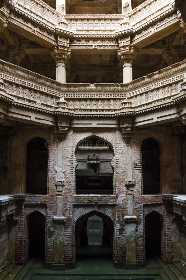Adalaj Stepwell. In Ahmedabad, Gujarat, India royalty free stock photography