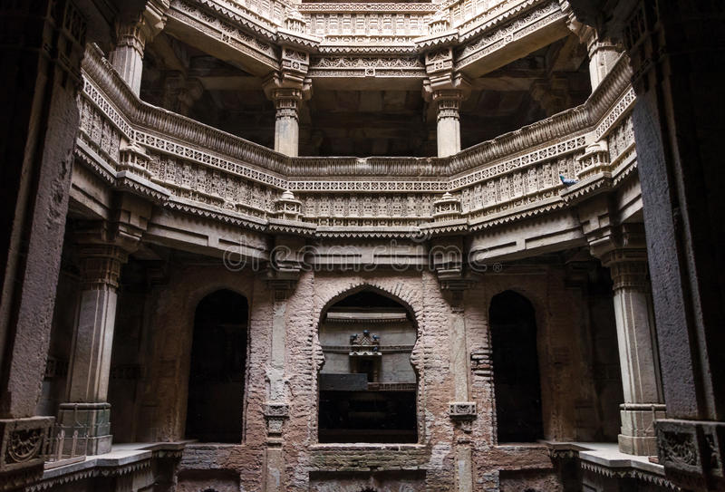 Adalaj Stepwell in Ahmedabad, Gujarat. India stock image