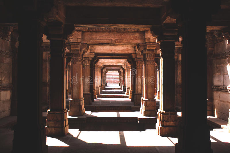 Adalaj stepwell, Ahmedabad, India stock photos