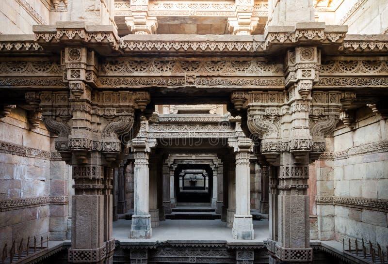 Adalaj Stepwell em Ahmedabad imagem de stock royalty free