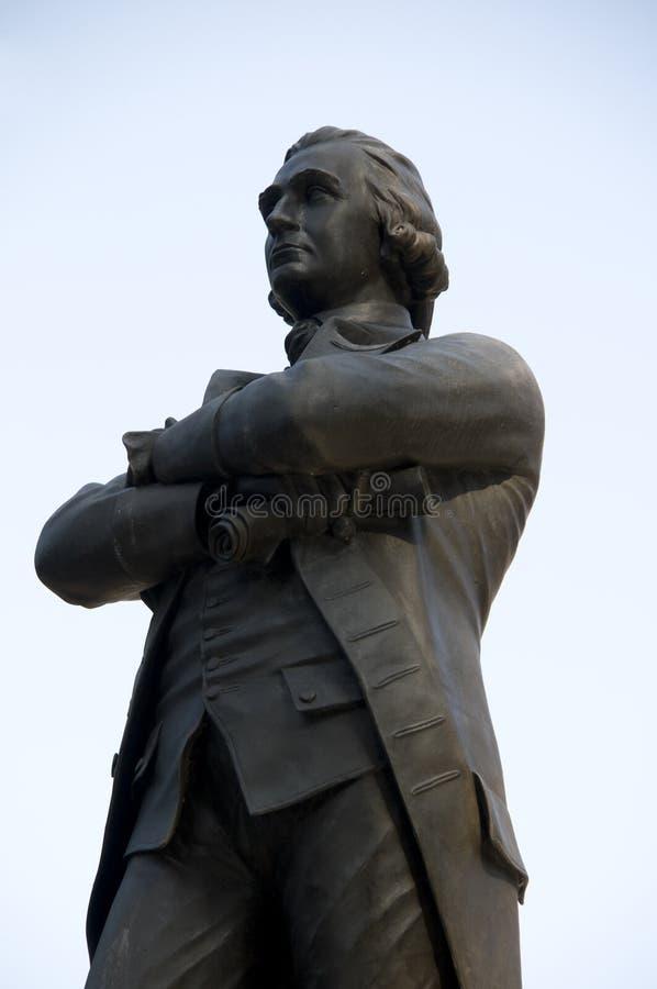 adam bostonu Sam statua obrazy stock