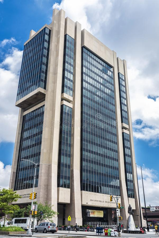 Adam Clayton Powell Jr. State Office Building in Harlem, New York City, USA. New York City, USA - August 1, 2018: Facade of the Adam Clayton Powell Jr. State stock photos