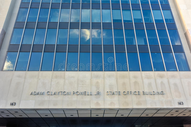 Adam Clayton Powell State Office Building - NYC imagem de stock
