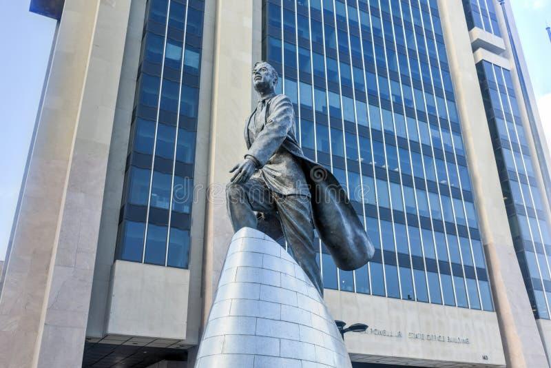 Adam Clayton Powell statua - NYC zdjęcia royalty free