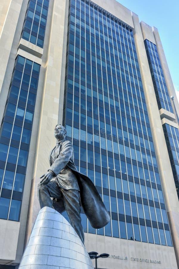Adam Clayton Powell statua - NYC obraz stock