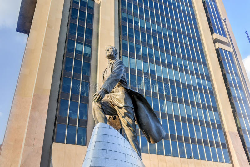 Adam Clayton Powell Statue - NYC photos stock