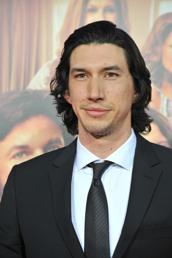 Adam Driver. LOS ANGELES, CA - SEPTEMBER 15, 2014: Adam Driver at the Los Angeles premiere of his movie This Is Where I Leave You at the TCL Chinese Theatre royalty free stock photo