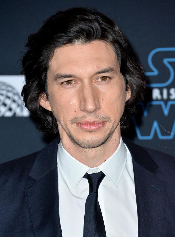 Adam Driver. LOS ANGELES, USA. December 17, 2019: Adam Driver at the world premiere of Star Wars: The Rise of Skywalker at the El Capitan Theatre..Picture: Paul royalty free stock image