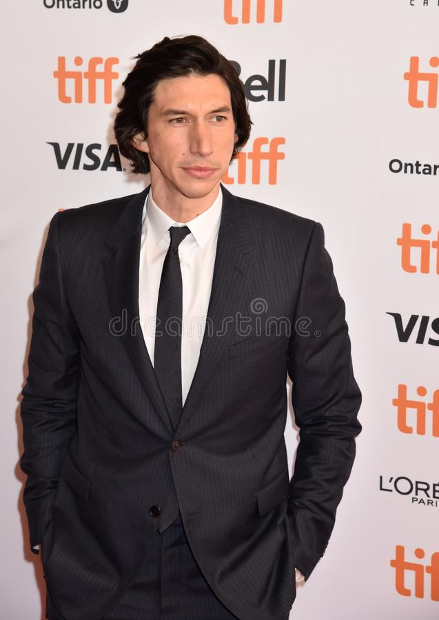 Adam Driver at premiere for Marriage Story in toronto. Actor Adam Driver at premiere at TIFF2019 for both The Report movie and Marriage Story . Also plays as royalty free stock photos