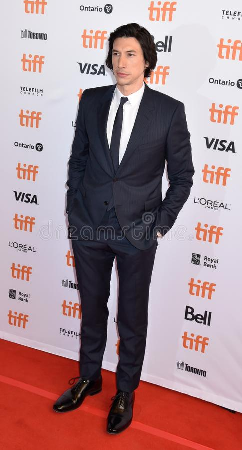 Adam Driver at premiere for Marriage Story in toronto. Actor Adam Driver at premiere at TIFF2019 for both The Report movie and Marriage Story . Also plays as stock photos